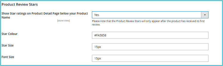 11 - Product Review Stars Configuration