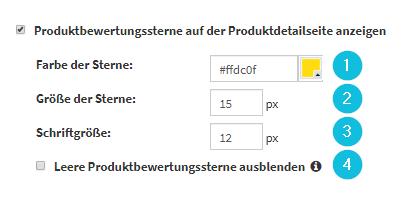 Produktbewertungssterne_Konfiguration