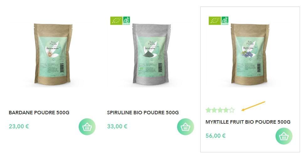 shop-application-affichage-avis-clients-etoiles-listing-article-boutique-enligne