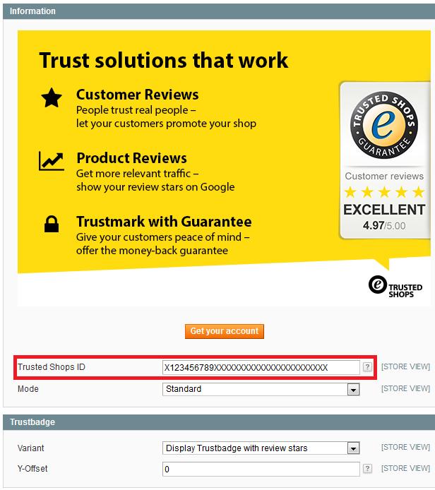 Magento Trustbadge code integration
