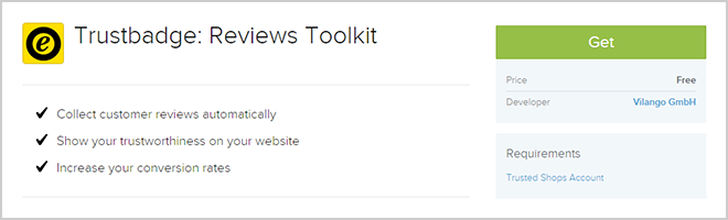 Get the Trustbadge Reviews Toolkit