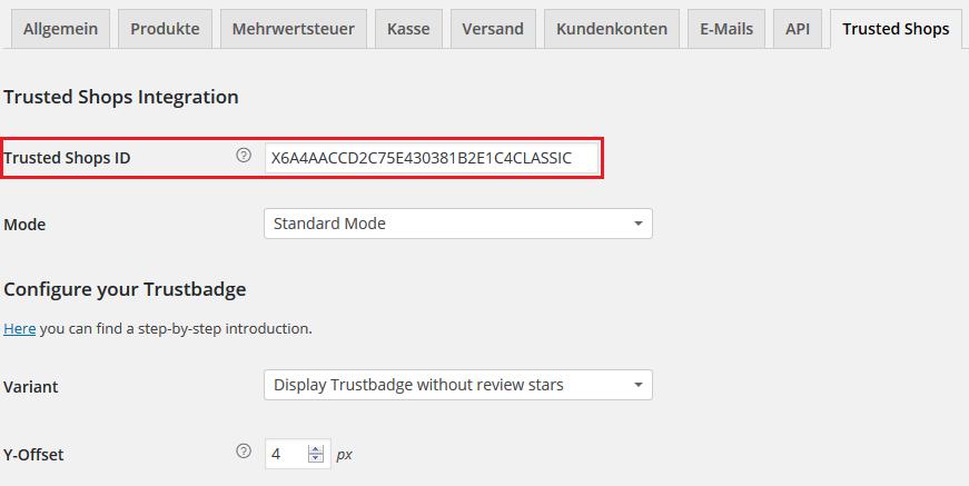 Trustbadge code integration
