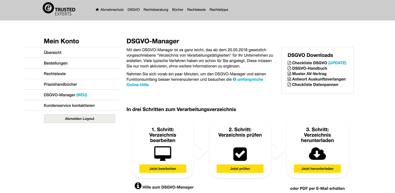 Trusted Shops Dsgvo Hilfe